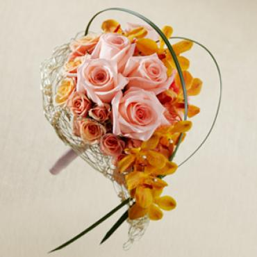 The Peach Waterfall Bouquet