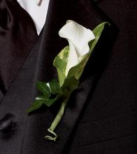 Calla Lily Promise Boutonniere