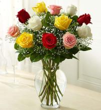Rose Eleganceâ?¢ Premium Long Stem Assorted Roses